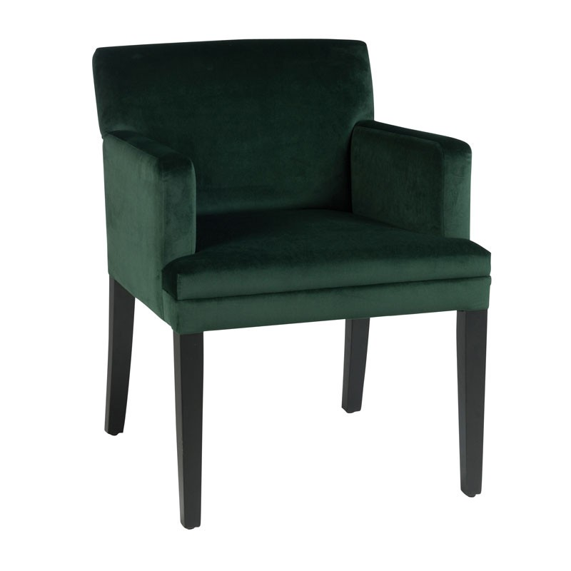 fauteuil velours vert hauteur repas velly univers des assises. Black Bedroom Furniture Sets. Home Design Ideas
