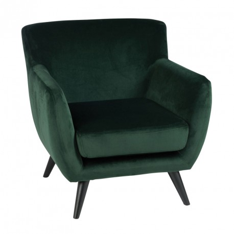 fauteuil velours vert assise salon velly univers du. Black Bedroom Furniture Sets. Home Design Ideas