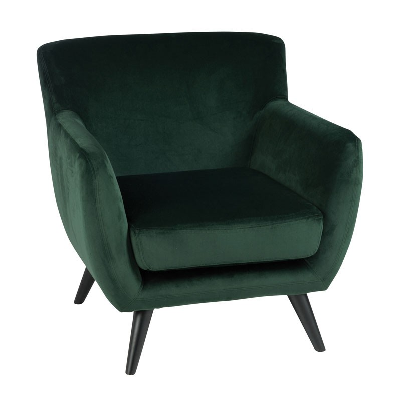 fauteuil velours vert assise salon velly univers du salon et assises. Black Bedroom Furniture Sets. Home Design Ideas