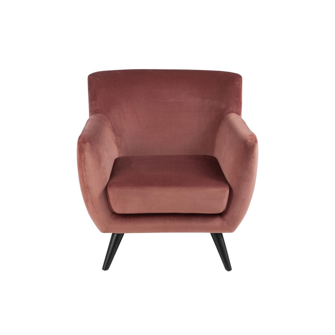 fauteuil velours rose assise salon velly univers du salon et assises. Black Bedroom Furniture Sets. Home Design Ideas
