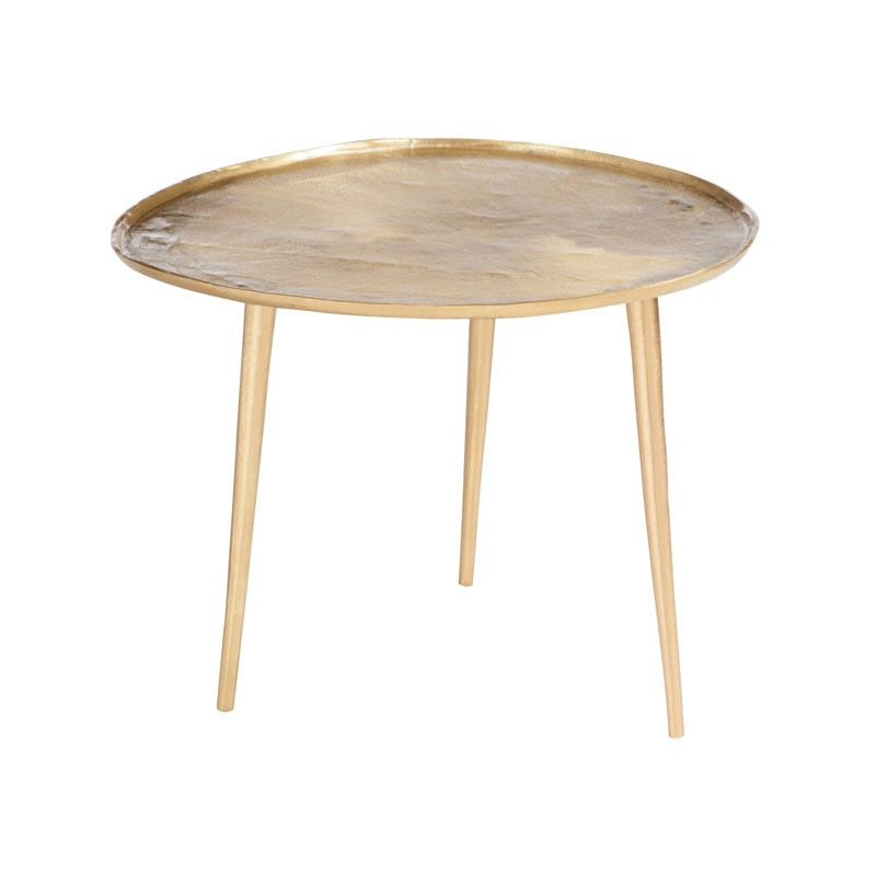 Table d 39 appoint m tal or taille m bisco univers des - Table d appoint contemporaine ...