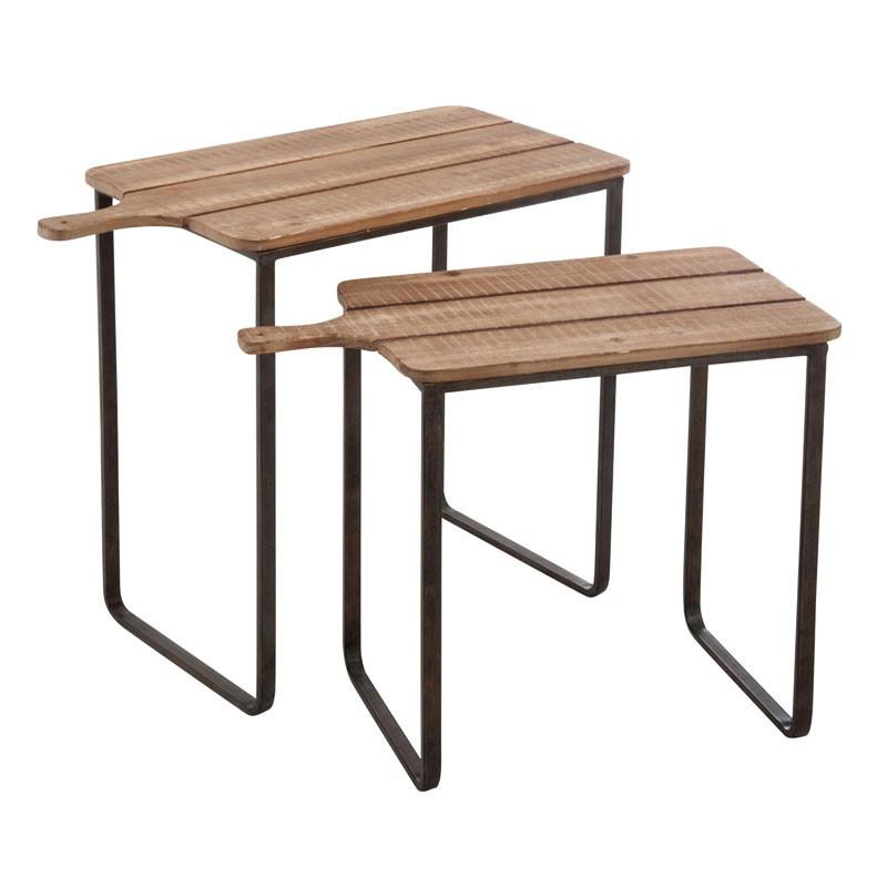 Tables gigognes bois brut - Univers Petits Meubles : Tousmesmeubles