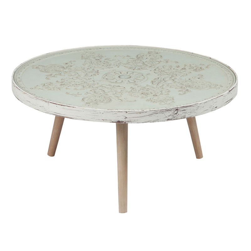 Table basse bois blanc c rus for Table basse blanc bois