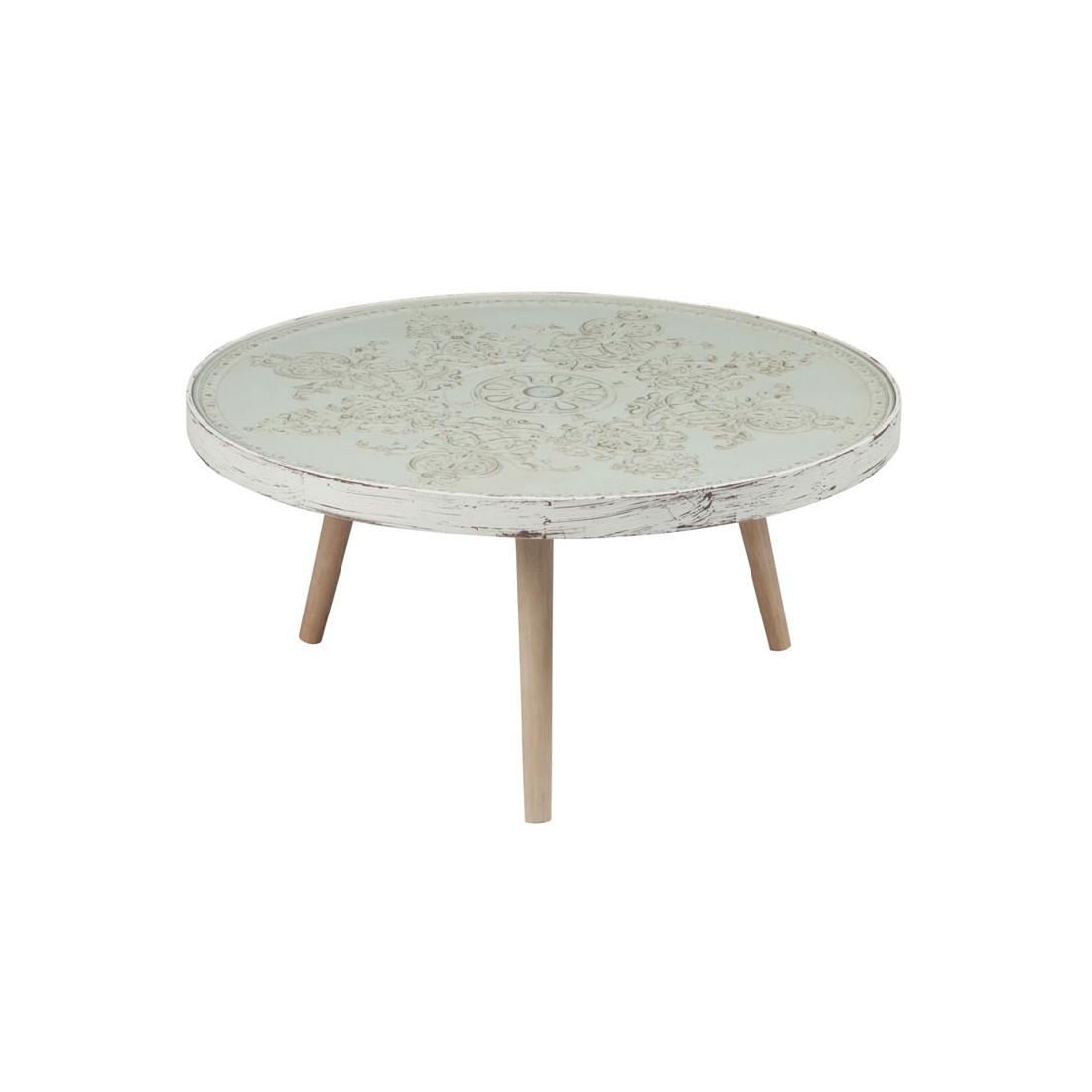 table basse bois c rus blanc fluence univers du salon. Black Bedroom Furniture Sets. Home Design Ideas