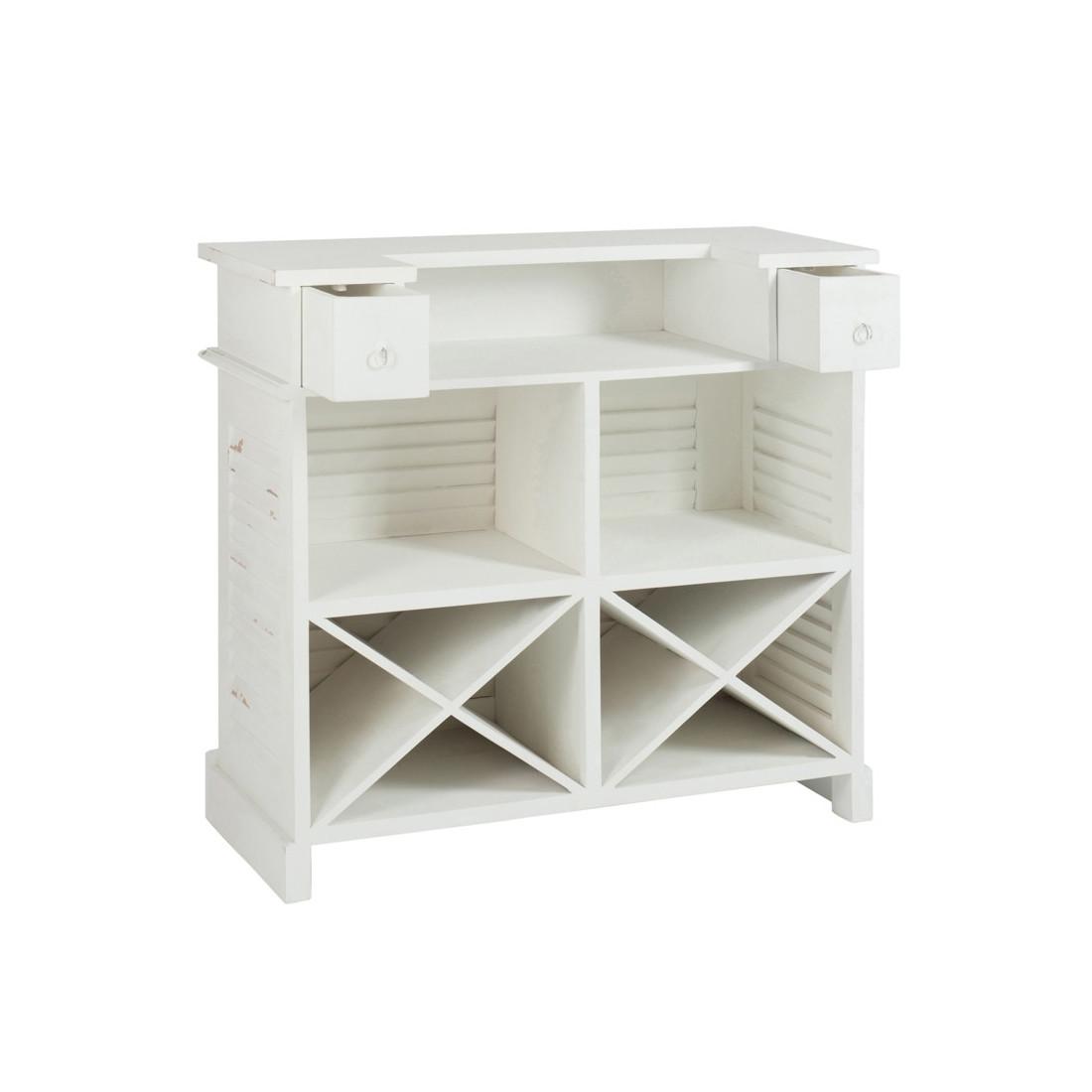 bar am nag en bois teint blanc factory univers du salon. Black Bedroom Furniture Sets. Home Design Ideas