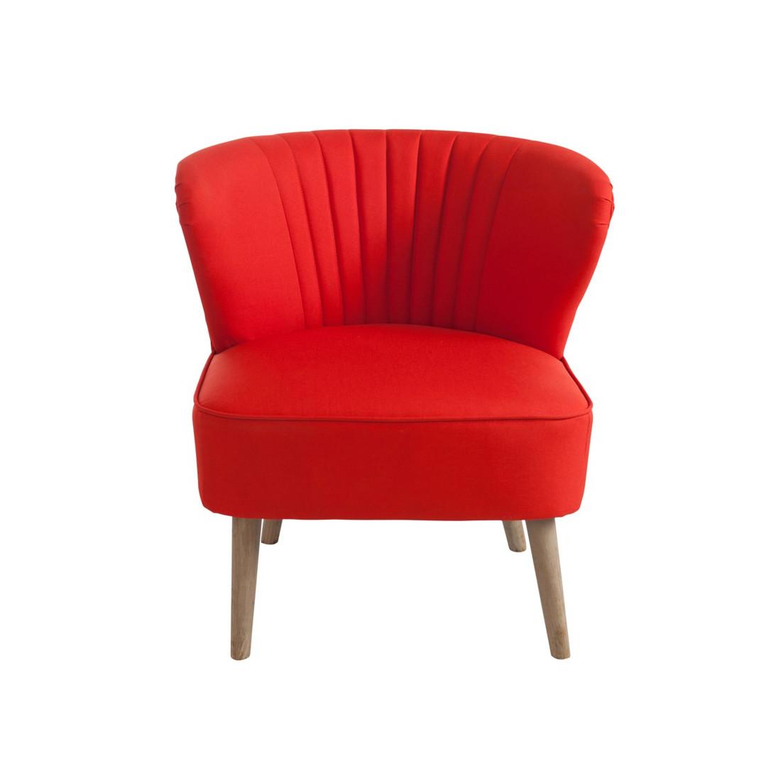 fauteuil club bridge rouge poly univers du salon et assises. Black Bedroom Furniture Sets. Home Design Ideas