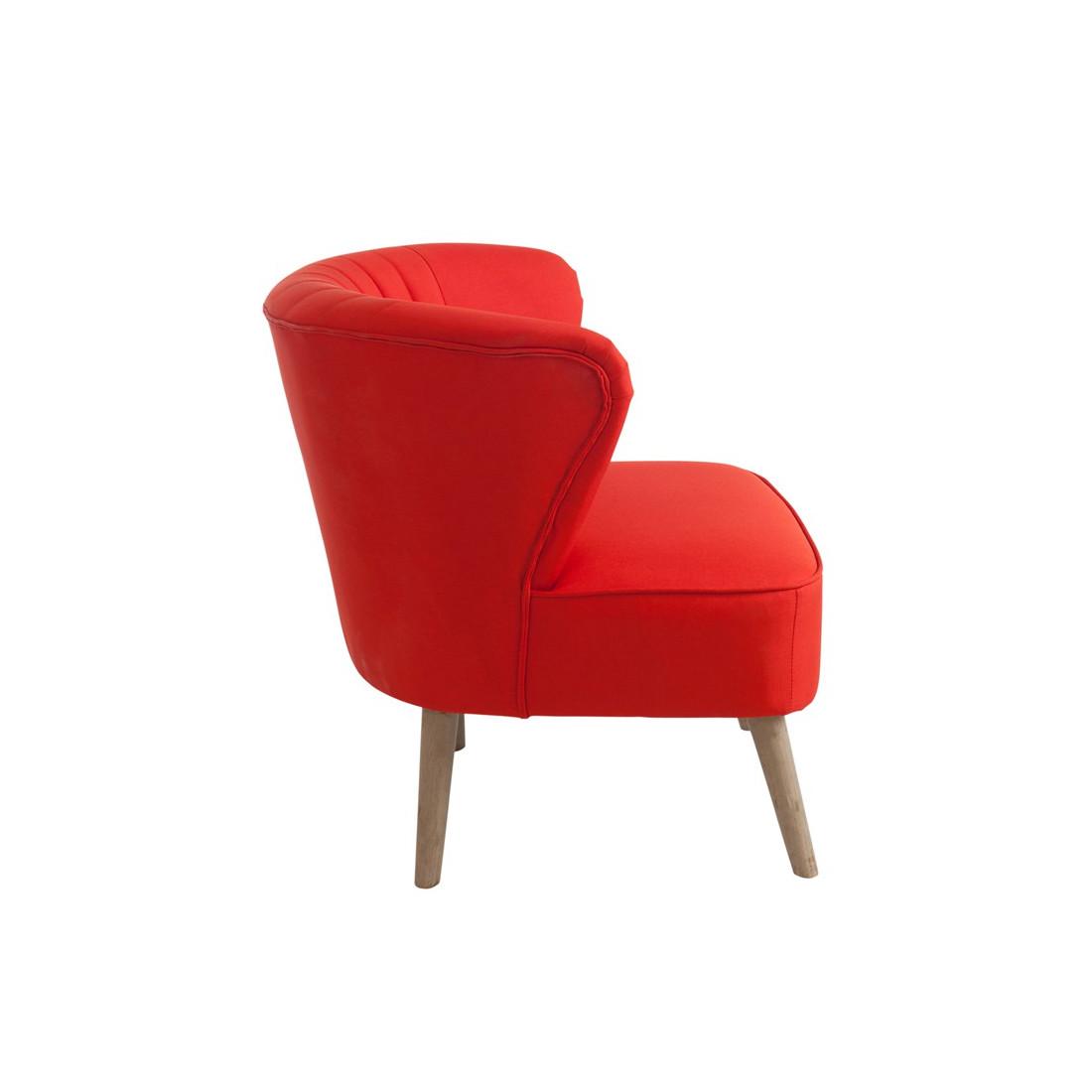 fauteuil club bridge rouge poly univers du salon et assises