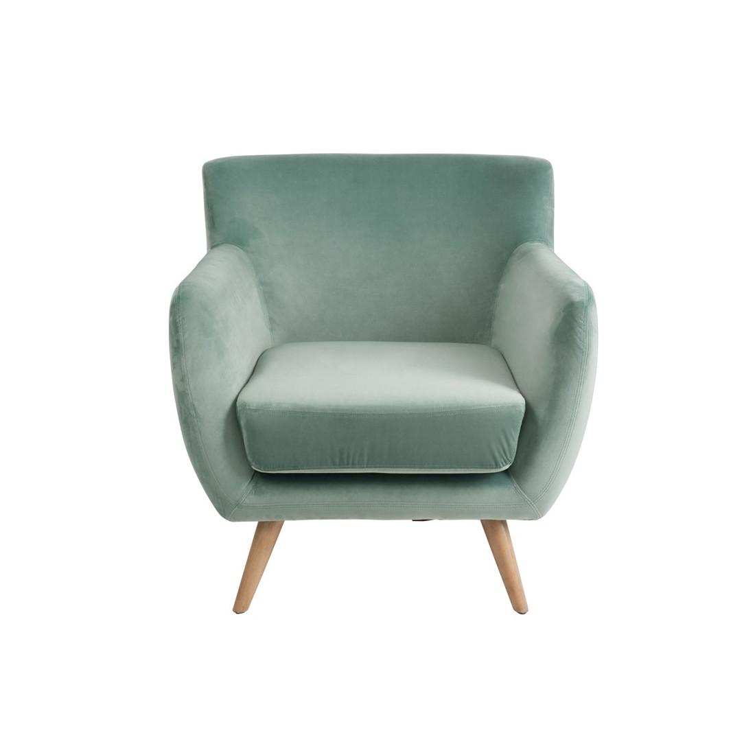fauteuil velours vert c ladon velly univers du salon et. Black Bedroom Furniture Sets. Home Design Ideas