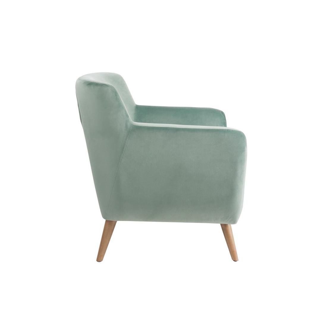 fauteuil velours vert c ladon velly univers du salon et assises. Black Bedroom Furniture Sets. Home Design Ideas