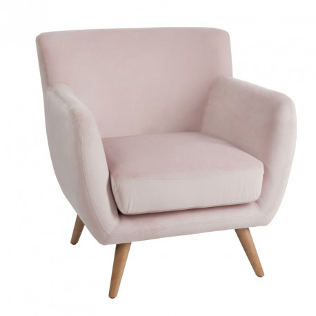 fauteuil velours vieux rose c ladon velly univers salon et assises. Black Bedroom Furniture Sets. Home Design Ideas