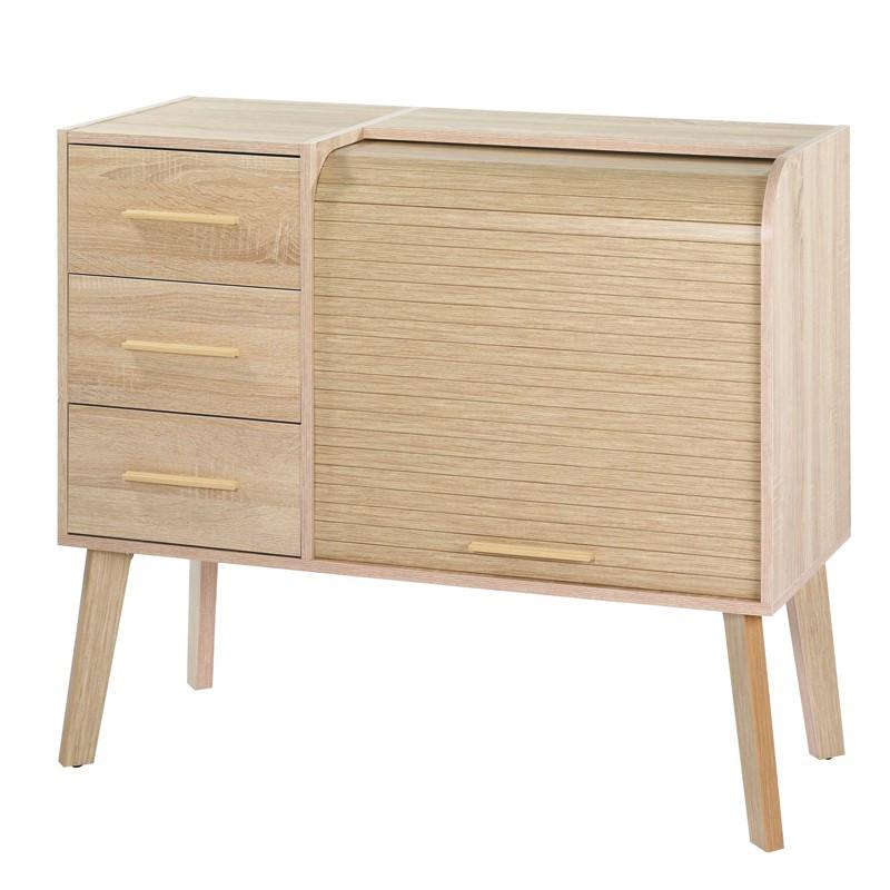 Meuble d'entrée à rideau, 3 tiroirs - ARKOS n°9
