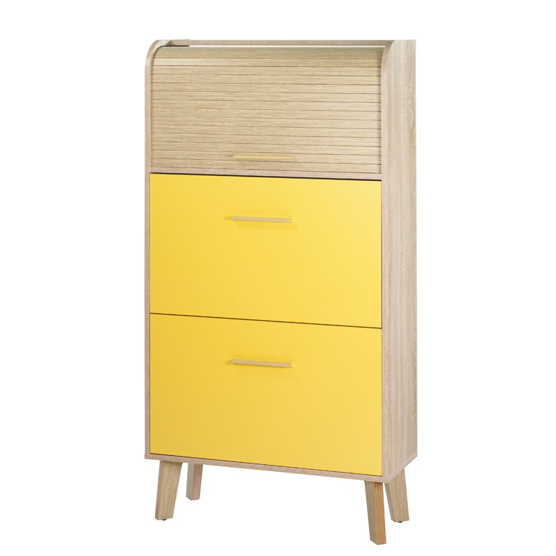 meuble chaussures rideau jaune arkos n 6 univers petits meubles. Black Bedroom Furniture Sets. Home Design Ideas