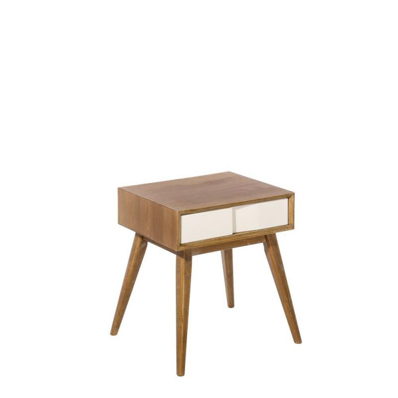 Table de chevet scandinave 1 tiroir nordica univers de for Table chevet scandinave