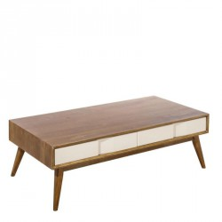 Table basse 2 tiroirs bois massif frêne scandinave - Univers Salon : Tousmesmeubles
