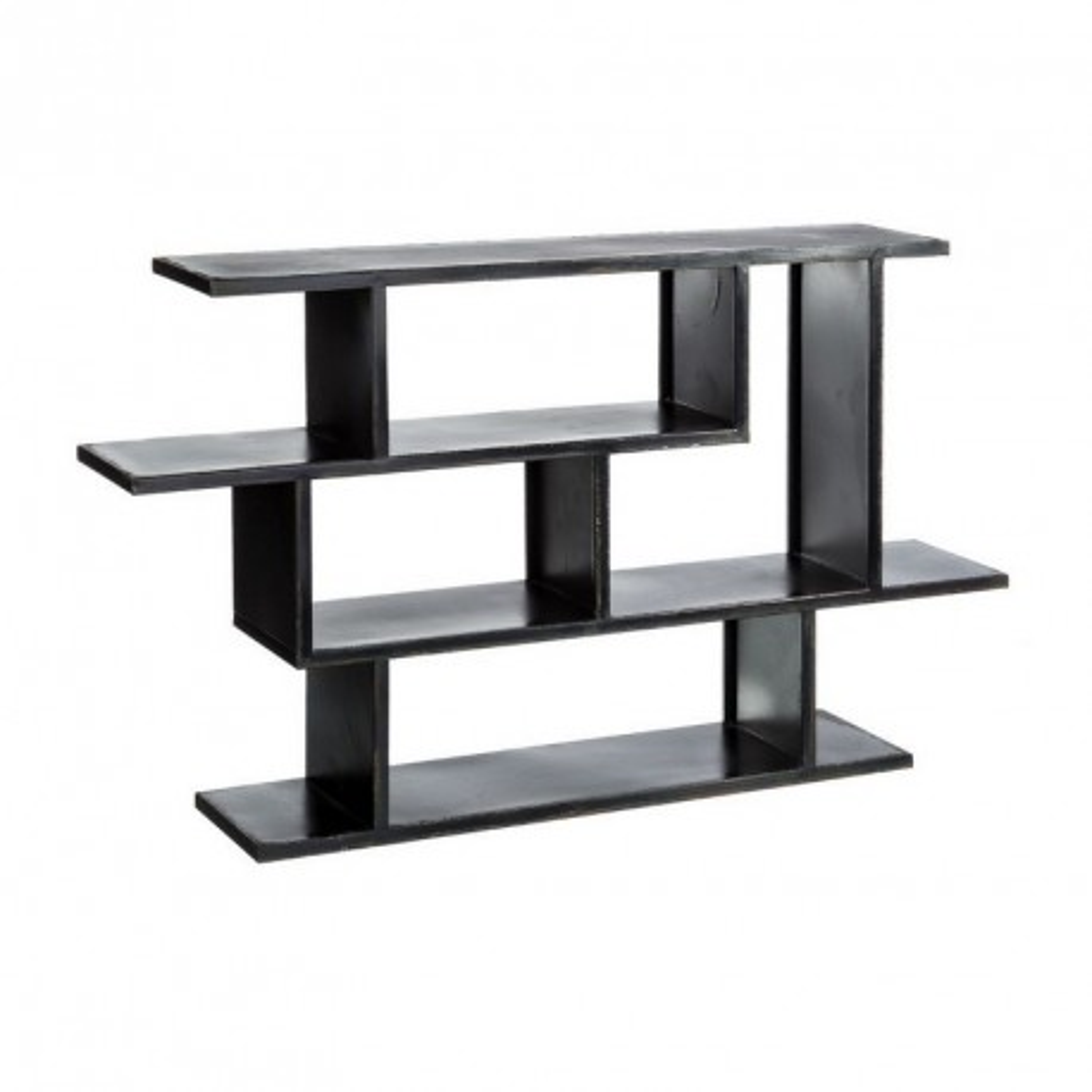 Etag re industrielle m tal noir block univers des petits meubles - Etagere metal industriel ...