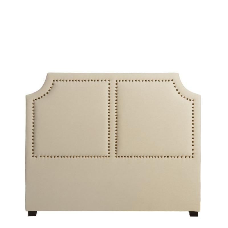 Tête de lit Crème 160 cm tissu clouté - Univers Chambre : Tousmesmeubles