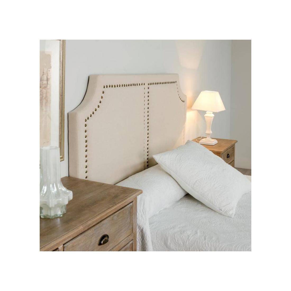 t te de lit clout e cr me 160 cm n 4 sweet univers chambre. Black Bedroom Furniture Sets. Home Design Ideas