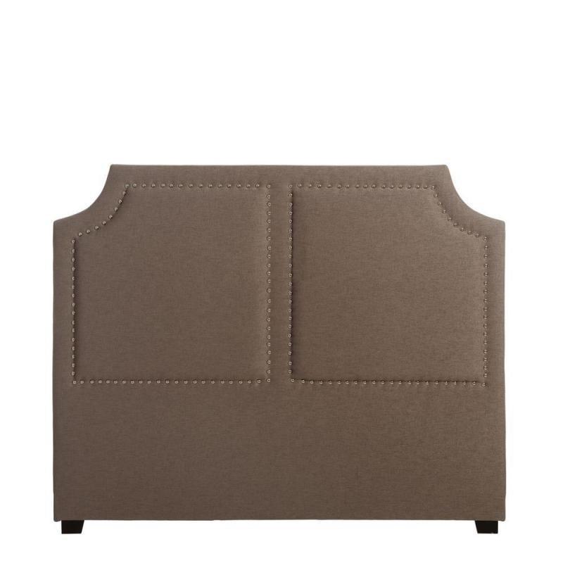 Tête de lit Gris 160 cm tissu clous - Univers Chambre : Tousmesmeubles