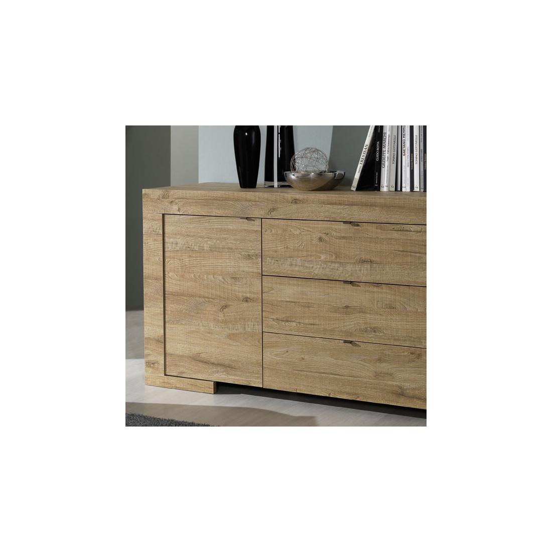 buffet moderne 2 portes 3 tiroirs naples univers salle manger. Black Bedroom Furniture Sets. Home Design Ideas