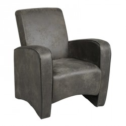 Fauteuil Club Gris - KING