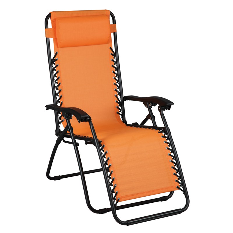 Fauteuil Relax multiposition Orange SPRYNG L 91 x l 65x H 113