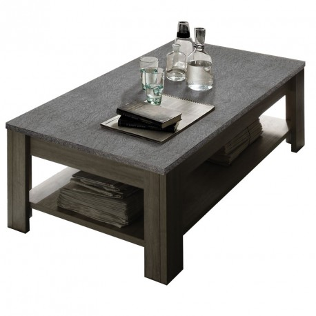 table basse ch ne gris et plateau ardoise ardesia univers du salon. Black Bedroom Furniture Sets. Home Design Ideas