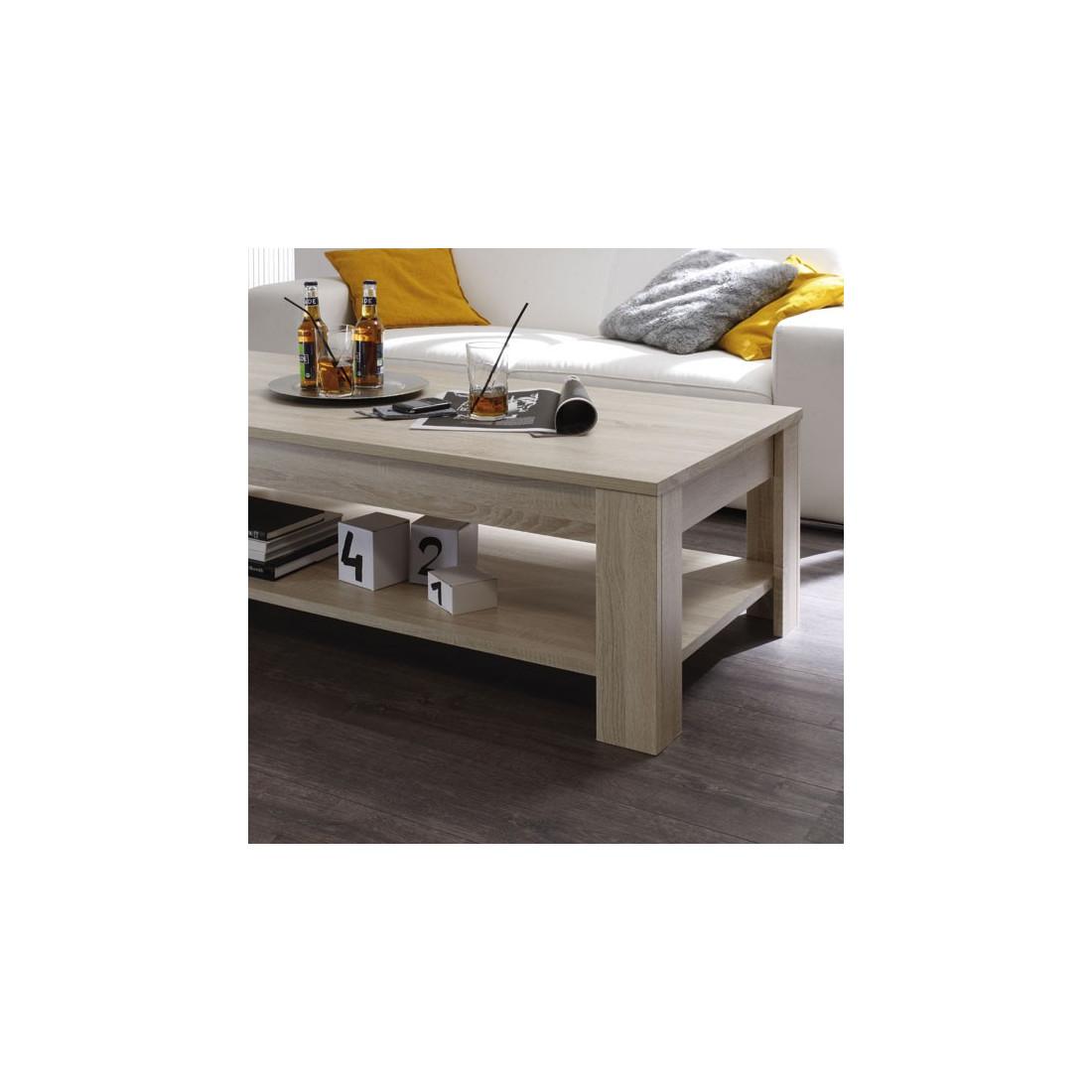 table basse 2 plateaux ch ne blond rubben univers du salon. Black Bedroom Furniture Sets. Home Design Ideas