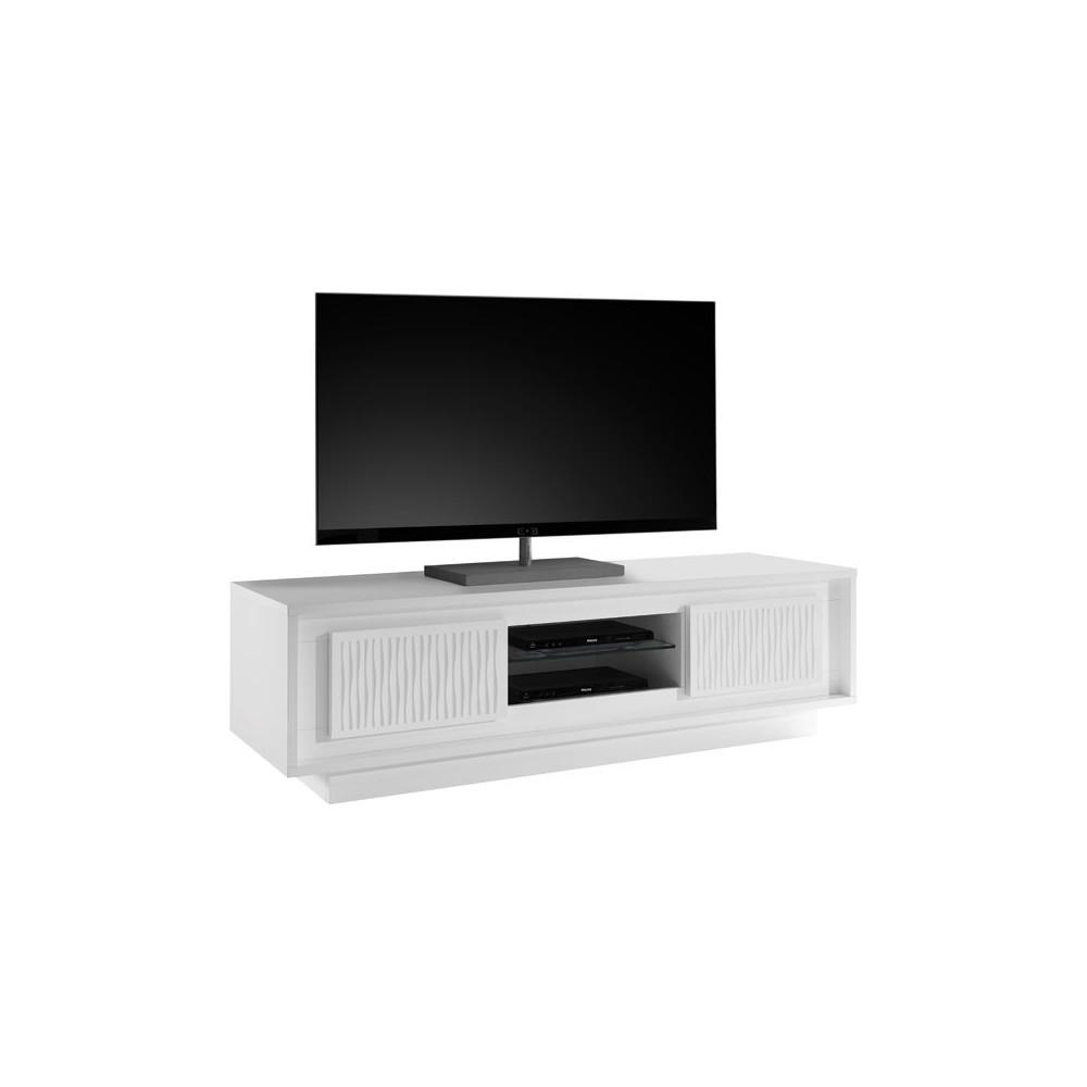 meuble tv 2 portes relief bandes ondul es rimini univers du salon. Black Bedroom Furniture Sets. Home Design Ideas