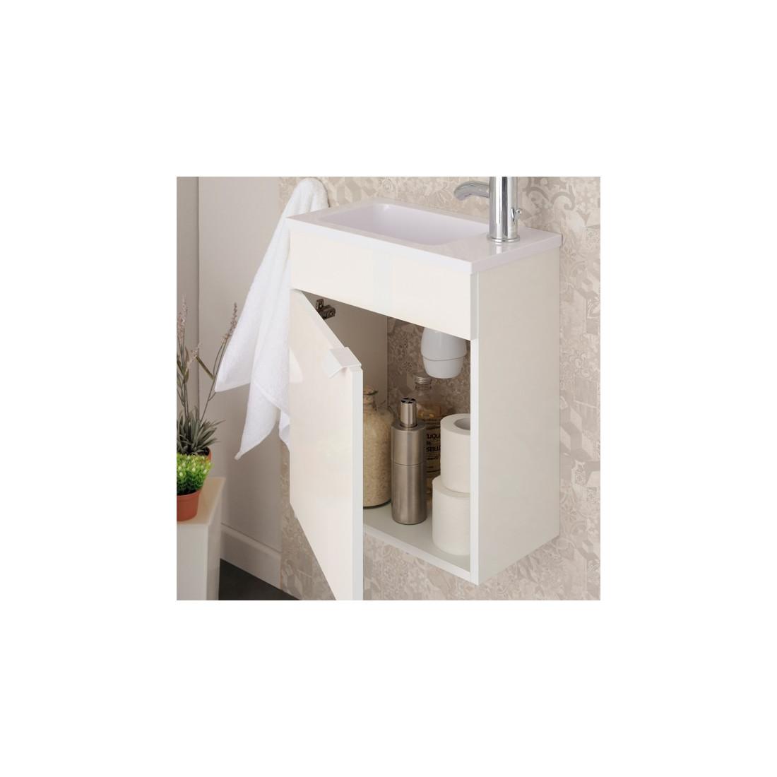 Meuble lave mains pour wc uriel n 1 univers salle de bain for Meuble lave main wc