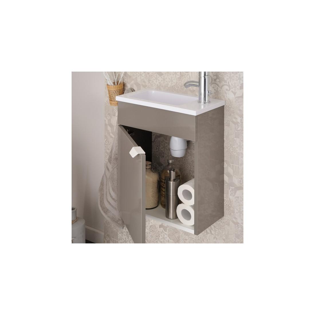 Meuble lave mains pour wc uriel n 2 univers salle de bain for Meuble lave main wc