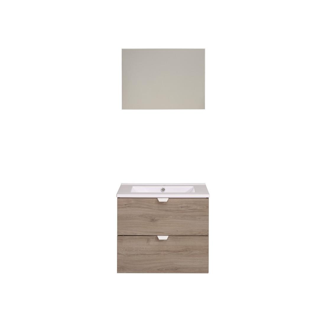 Ensemble complet meubles salle de bain uriel n 3 salle for Ensemble accessoires salle de bain wc