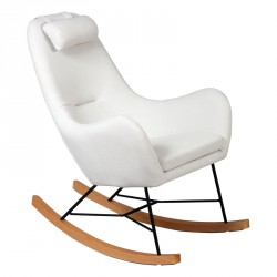 Rocking Chair Beige scandinave - Univers Salon et Assises : Tousmesmeubles