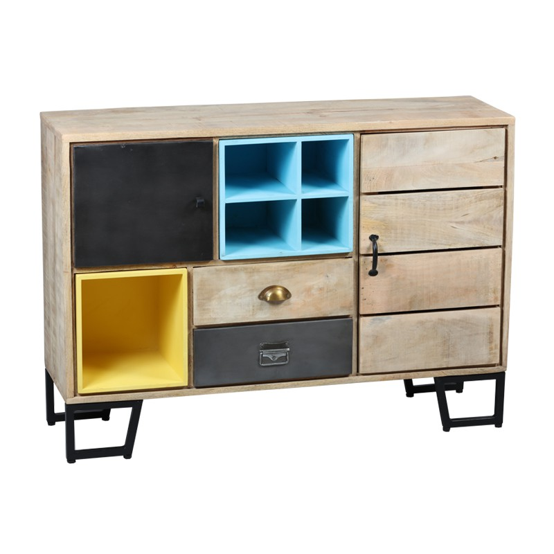 meuble d 39 entr e bois m tal supply univers petits meubles. Black Bedroom Furniture Sets. Home Design Ideas