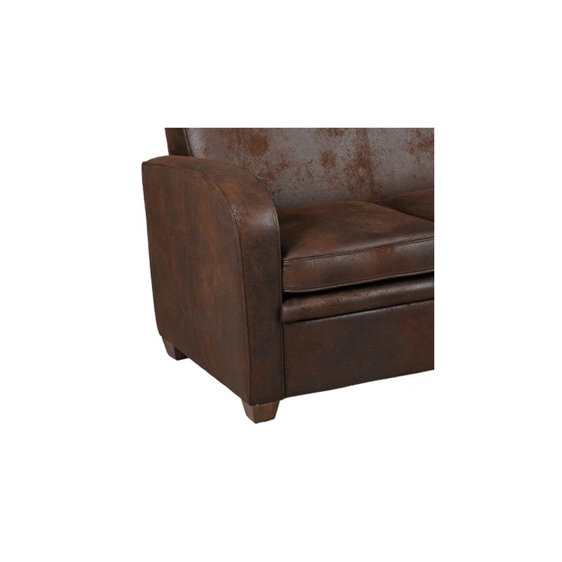 canap club 2 places marron king univers du salon. Black Bedroom Furniture Sets. Home Design Ideas