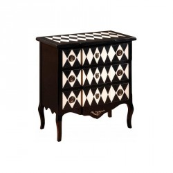 Commode 3 tiroirs teinte Arlequin - ALICE