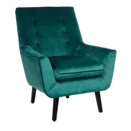 fauteuil scandinave velours vert sixte univers du salon et assises. Black Bedroom Furniture Sets. Home Design Ideas