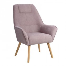 Fauteuil Velours Rose - WAVE