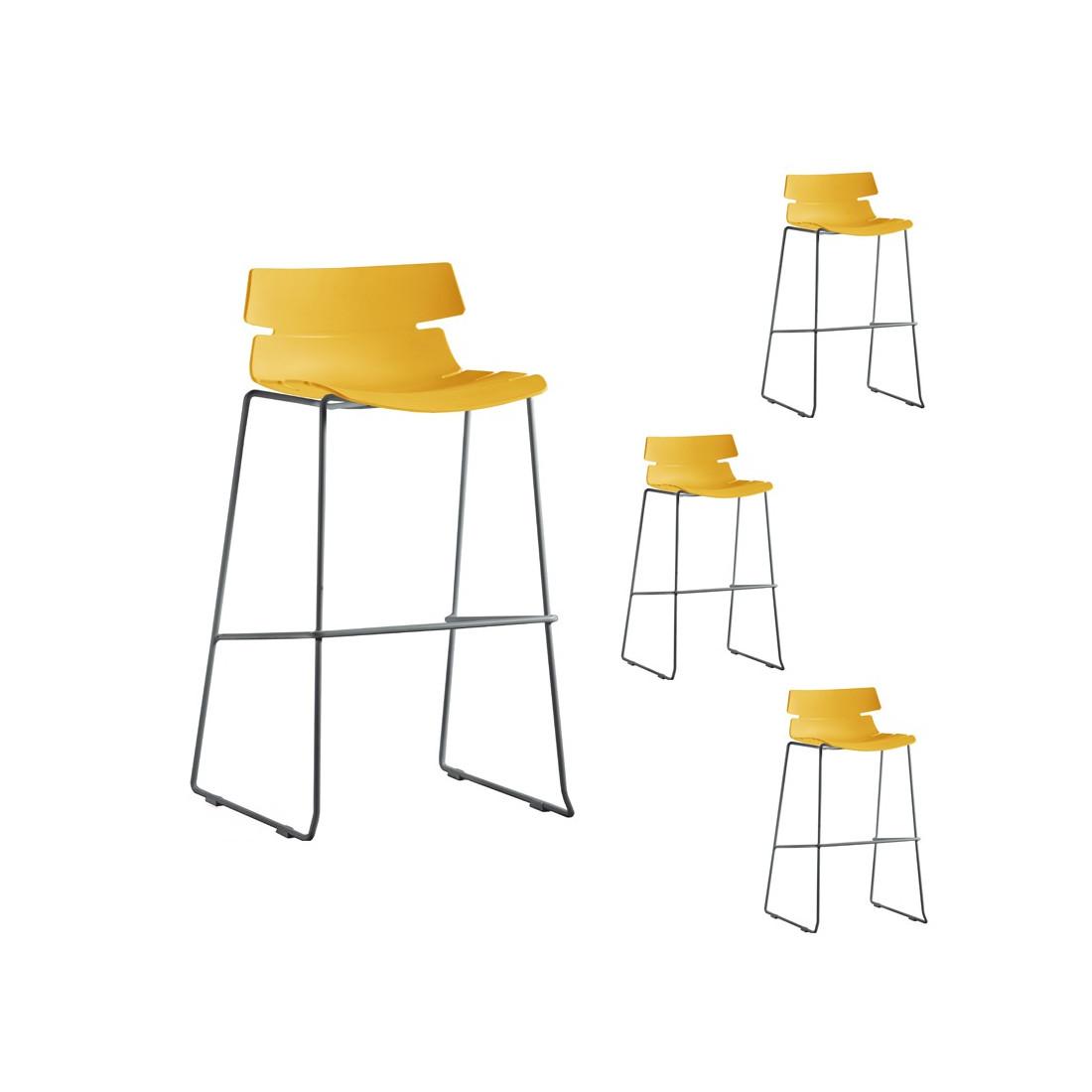 quatuor de tabourets de bar moutarde siry univers salon. Black Bedroom Furniture Sets. Home Design Ideas
