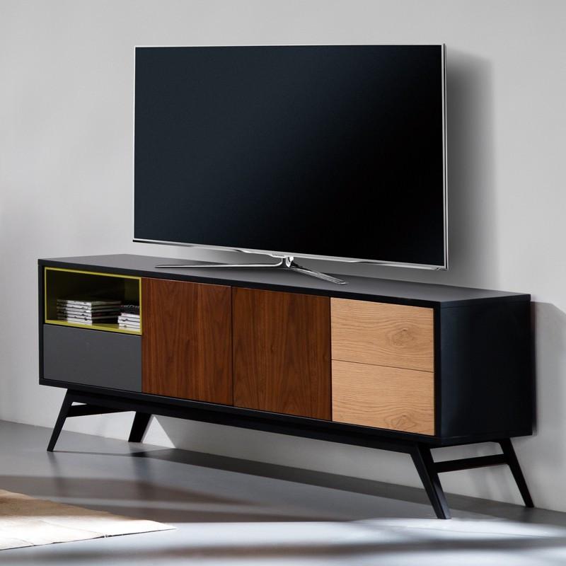 Meuble TV 3 portes 1 tiroir - ALESIA n°2