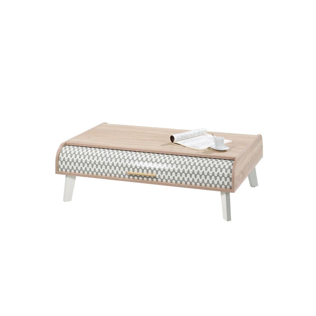 table basse rideau zigzag gris et blanc arkos n 1 univers du salon. Black Bedroom Furniture Sets. Home Design Ideas