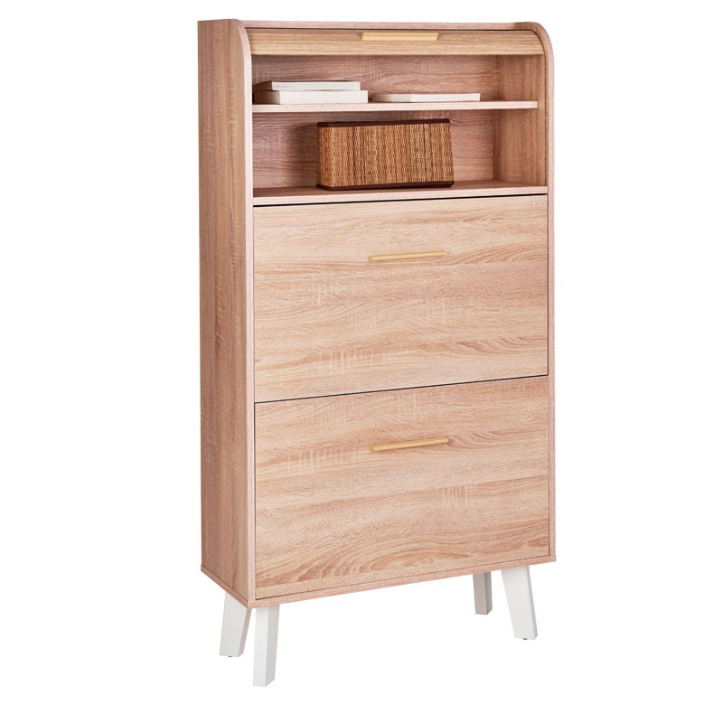 meuble chaussures rideau en bois uni arkos n 3 univers du bureau. Black Bedroom Furniture Sets. Home Design Ideas