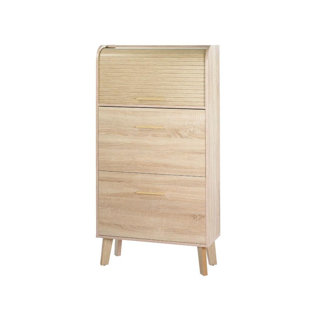 meuble chaussures rideau en bois arkos n 9 univers petits meubles. Black Bedroom Furniture Sets. Home Design Ideas