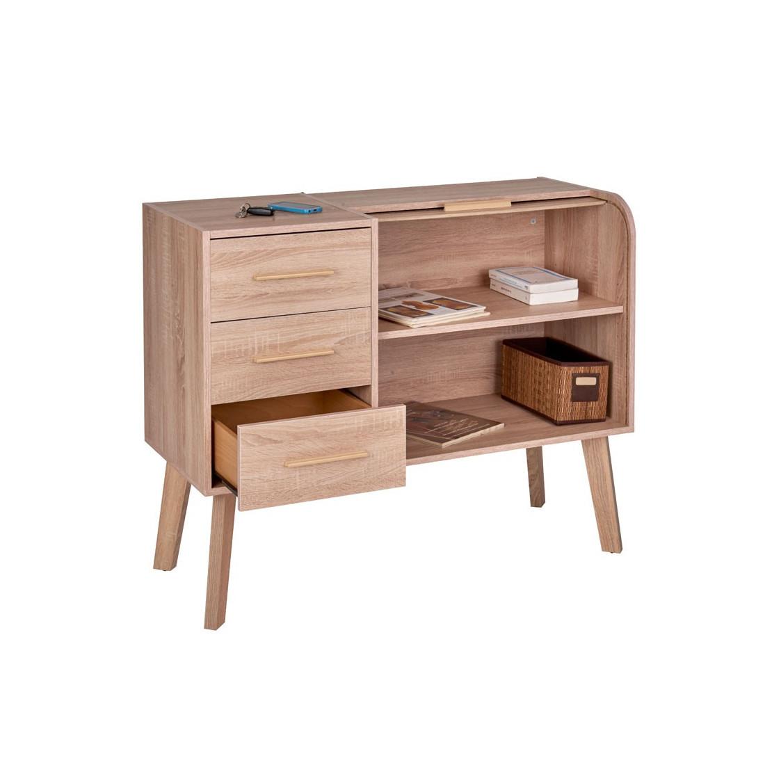 meuble d 39 entr e rideau 3 tiroirs arkos n 9 univers petits meubles. Black Bedroom Furniture Sets. Home Design Ideas