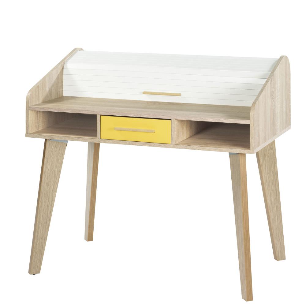 Bureau à rideau 1 tiroir - ARKOS n°6