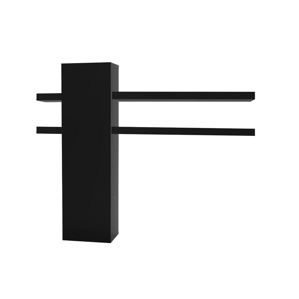 Colonne et tablettes de rangement laque noire - CARMEN