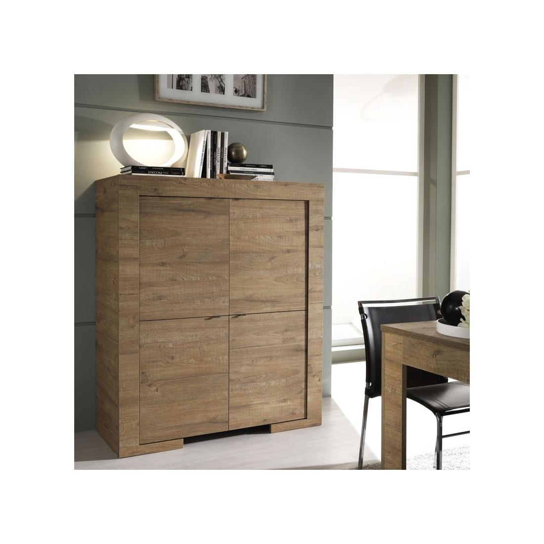 vaisselier moderne 4 portes naples univers salle. Black Bedroom Furniture Sets. Home Design Ideas