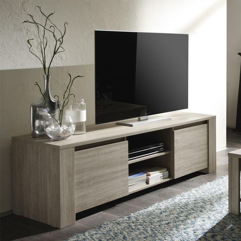 Meuble TV 2 portes 2 niches - ARDESIA