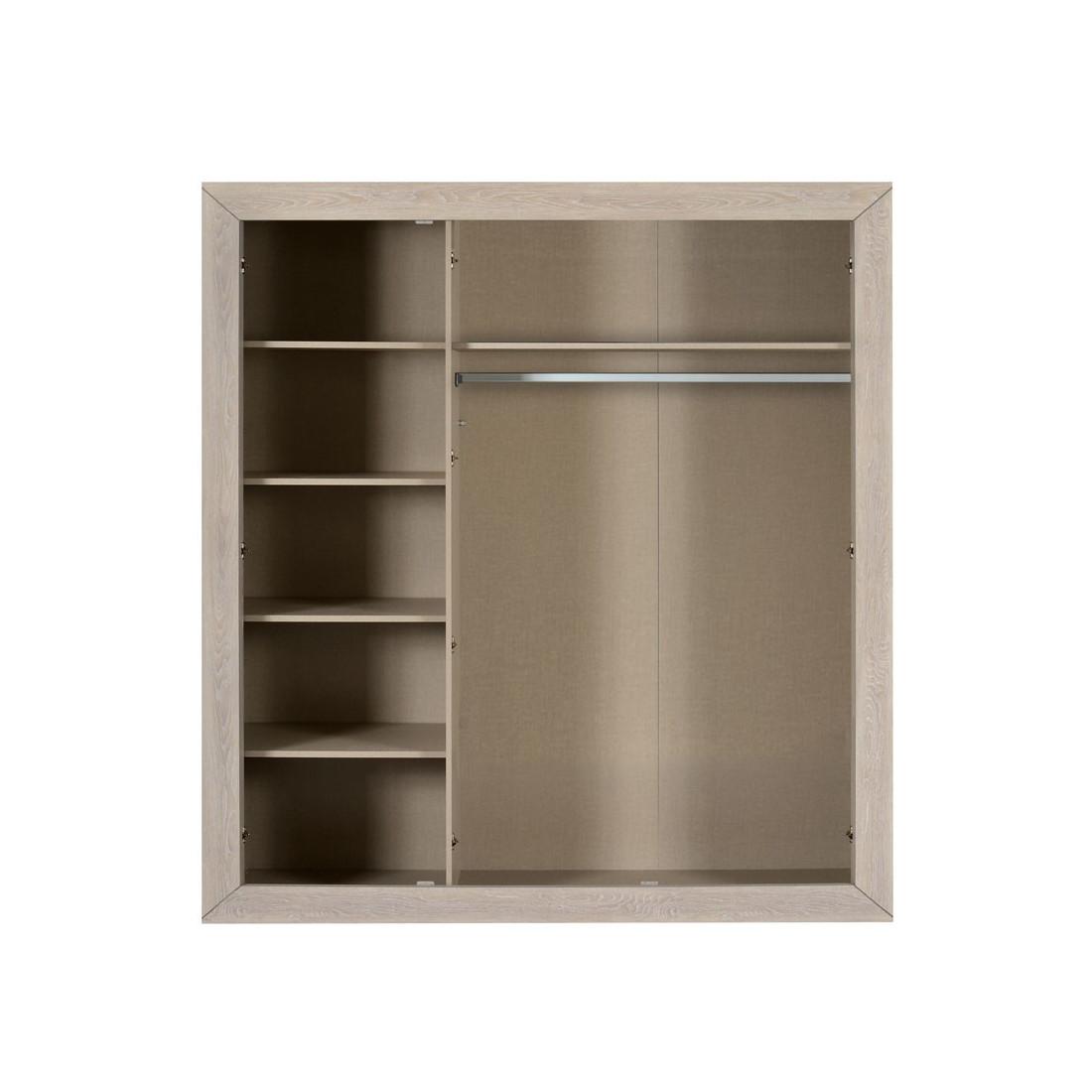 armoire 3 portes gris clair papeete univers chambre. Black Bedroom Furniture Sets. Home Design Ideas