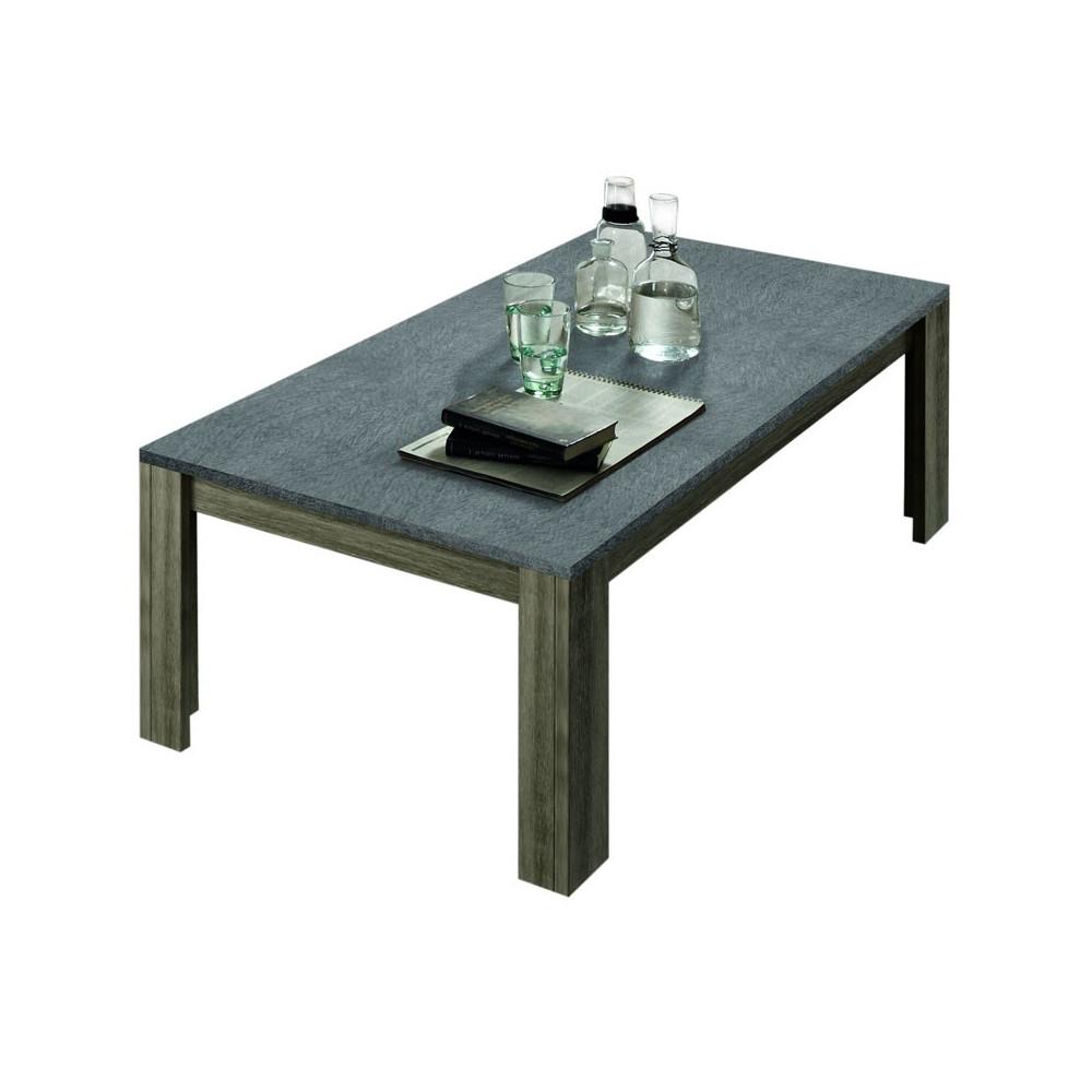 Table basse Chêne gris plateau Ardoise ARDESIA - Univers du Salon