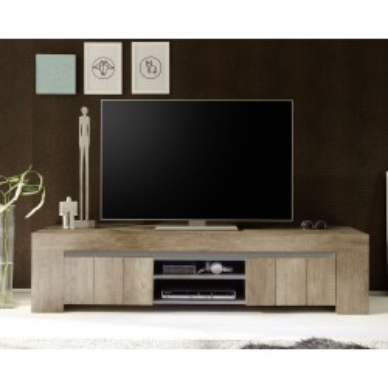 Meuble TV 2 portes 2 niches - PALMIRA